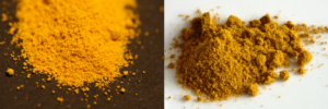 Cadmium powder vs turmeric
