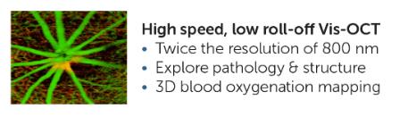Cobra VIS OCT spectrometer benefits