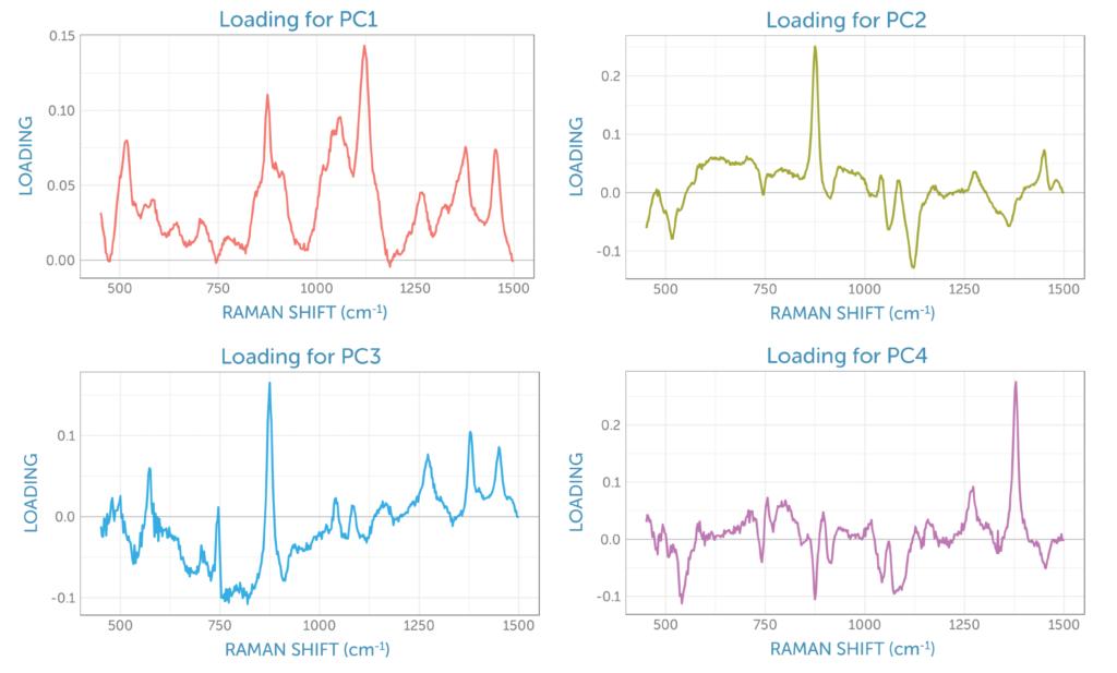 Raman fermentation monitoring PCA analysis loadings