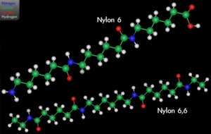 Differences in chemical structure of nylon variants.