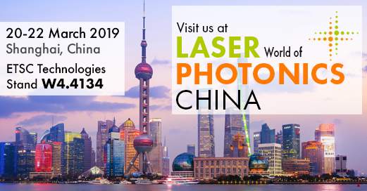 Visit Wasatch Photonics at Laser World of Photonics China on ETSC Technologies stand W4.4134