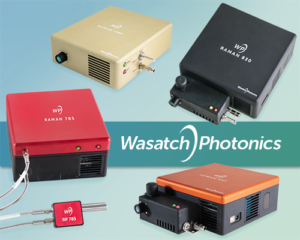 Raman spectrometers with integrated lasers